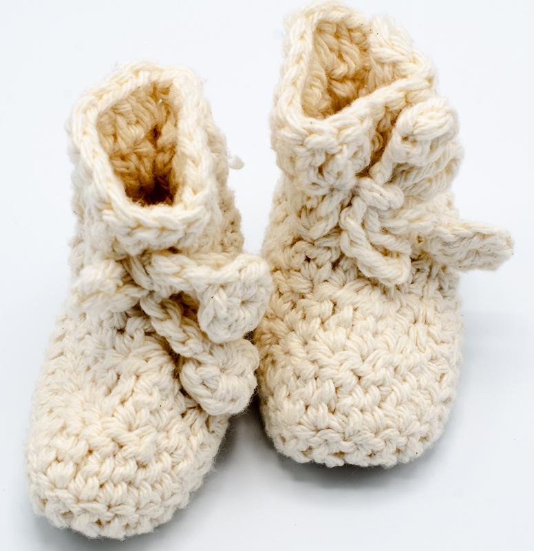 bd243c76e2c77 Handmade Crocheted Bootie   Mon Petit Coeur