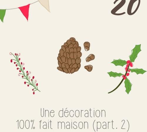 DIY décorer une table de Noël avec des objets récupérées (partie 2/2)