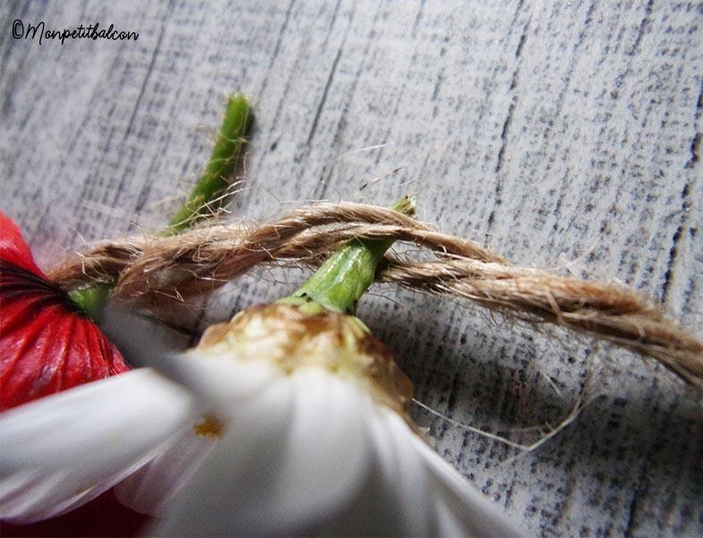 diy mon petit balcon couronne de fleurs sauvages (coquelicots, paquerettes, blé)