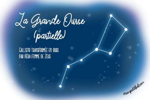 Constellation de la grande ourse dessinée Nuit des étoiles 2016
