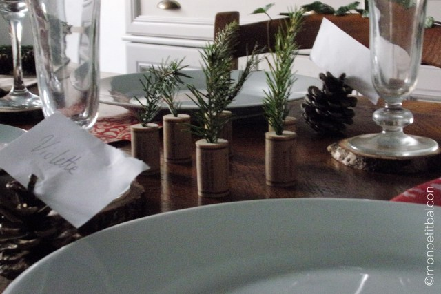 Décoration de table de noël végétale