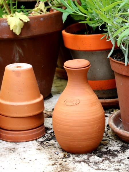 Oya en terre cuite par Oyas Environnement dans la première box jardinage écoresponsable pour citadins sur balcon