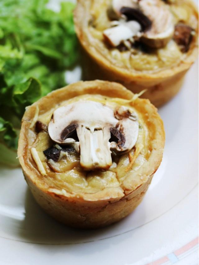 Recette végétarienne de quiche aux champignons et à la sauge sans lactose et sans gluten | Mon petit balcon