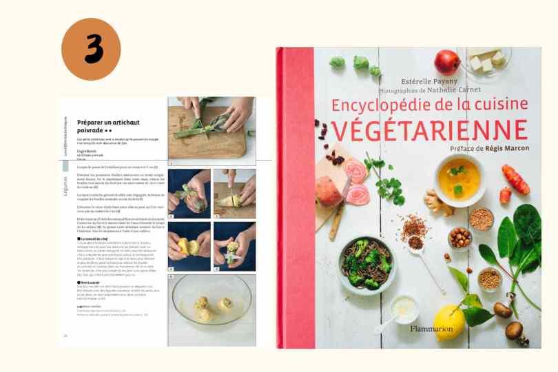 Encyclopédie de la cuisine végétarienne par Esterelle Payani- Flammarion, livre pour cuisiner végétarien
