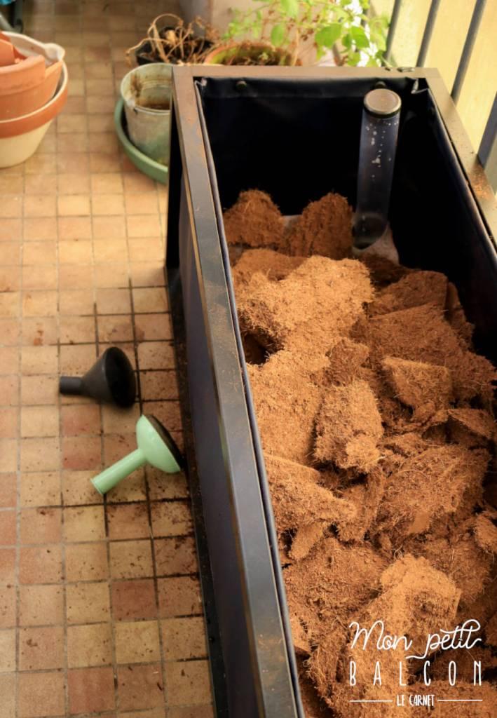 Installation Du Bac Potager Noocity Mon Petit Balcon