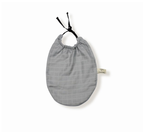 James bavoir gris bleuté clair coton bio bébé enfant newborn made in france organic cotton – Lebôme
