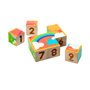 puzzle cubos madera plantoys
