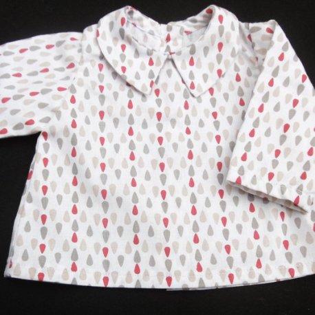 Chemise Gouttelettes Mon Petit Vestiaire, vêtements pour prématurés