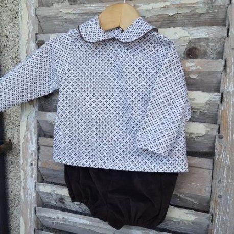 Blouse bébé garçon : la blouse Clairière Mon Petit Vestiaire