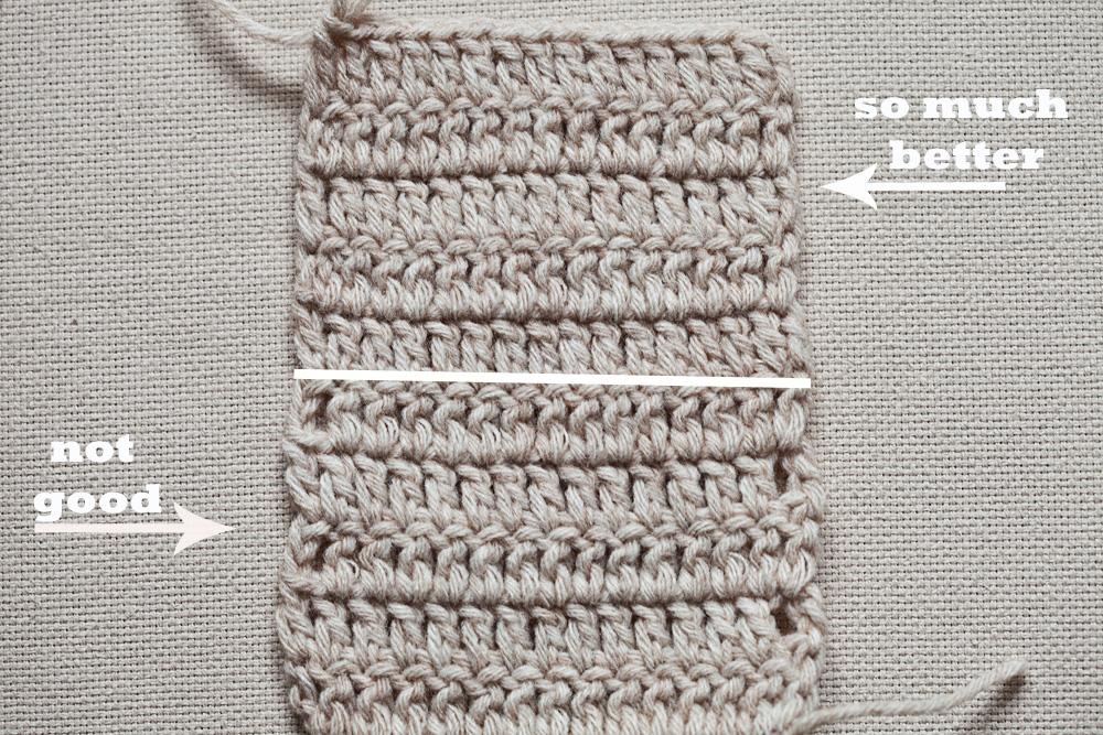 Crochet Tip - Double crochet Even Edge