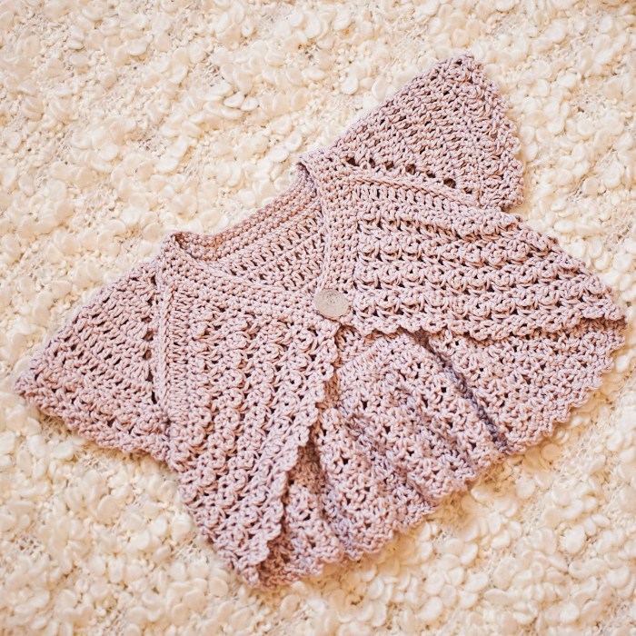 Crochet pattern by Mon Petit Violon, Flutter Sleeve Shrug! www.monpetitviolon.etsy.com