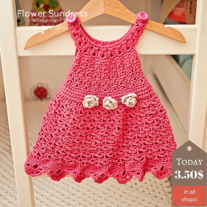 Flower Sundress, crochet pattern by Mon Petit Violon