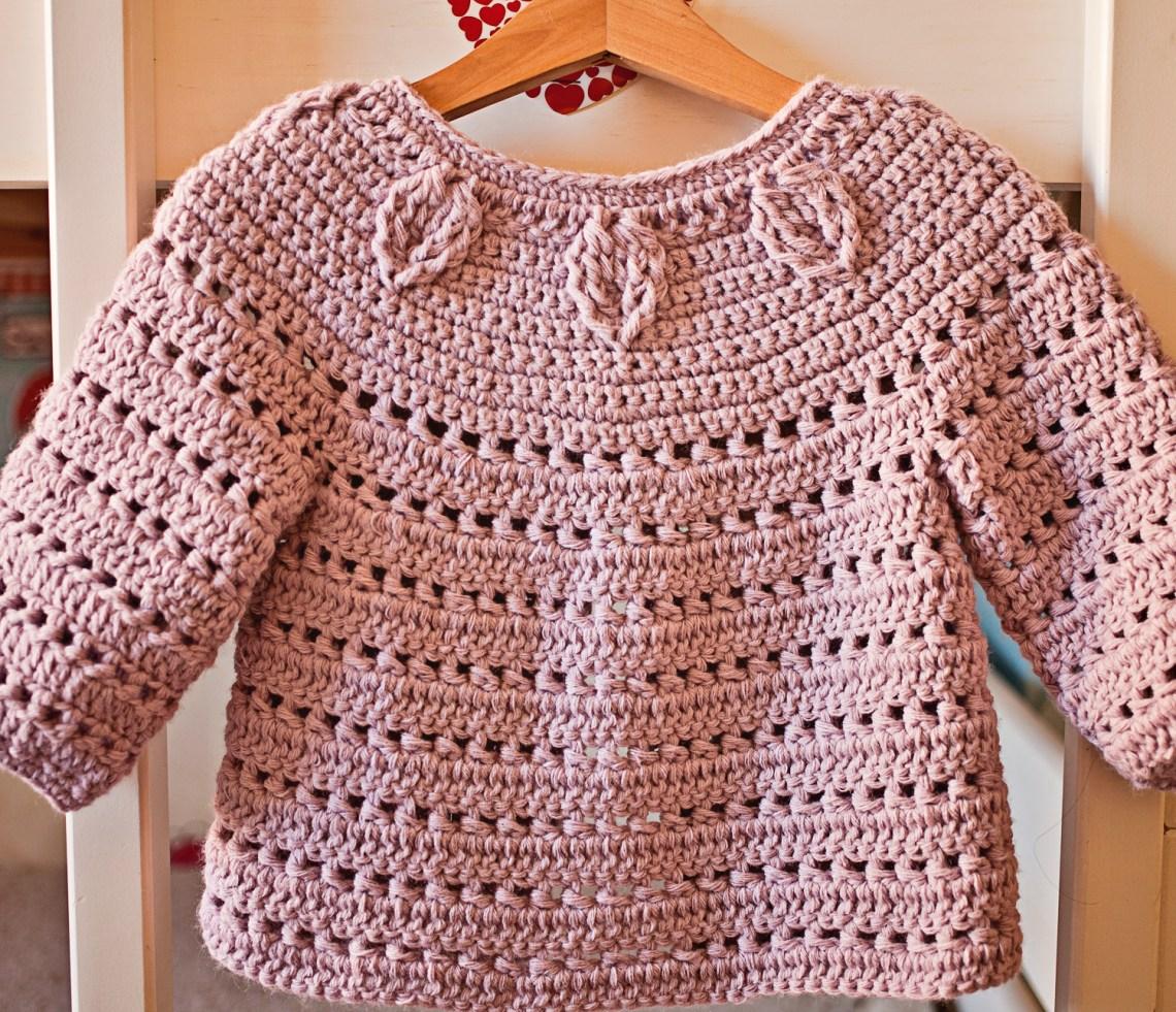 Falling Leaves Cardigan, crochet pattern by Mon Petit Violon
