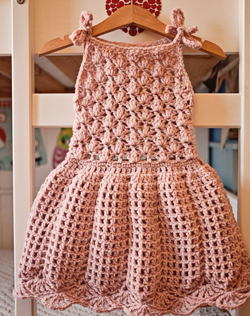 Pleated Dress, crochet pattern by Mon Petit Violon