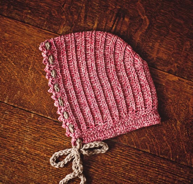 Knit-look Bonnet by Mon Petit Violon, www.monpetitviolon.etsy.com