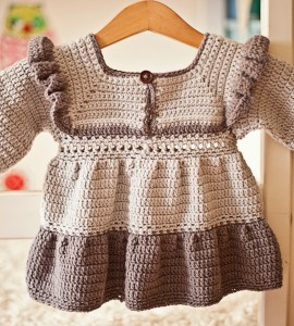 Heather Tiered Dress with Frills, crochet pattern by Mon Petit Violon