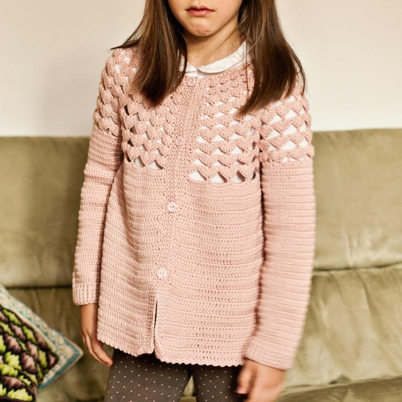Luise Cardigan, crochet pattern by Mon Petit Violon