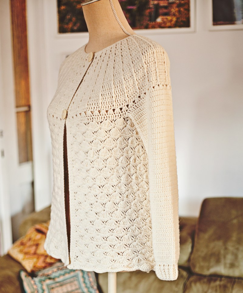 Mia Cardigan, crochet pattern by Mon Petit Violon