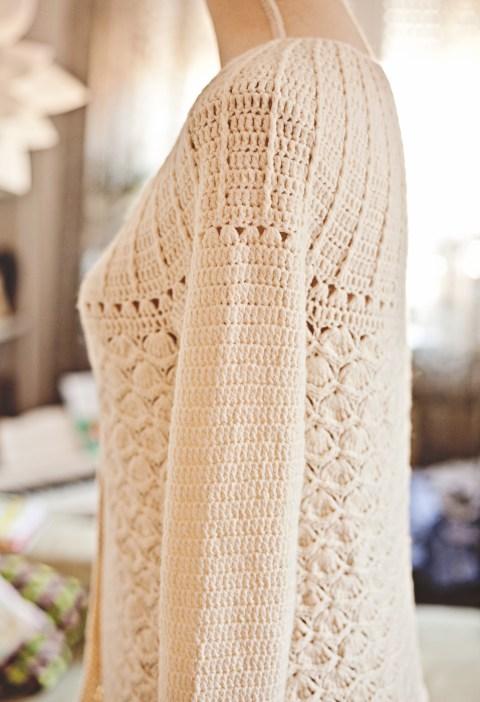 Mia Cardigan, crochet pattern by Mon Petit Violon