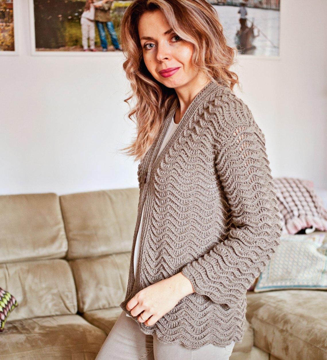 Kimono Style Cardigan - crochet pattern by Mon Petit Violon