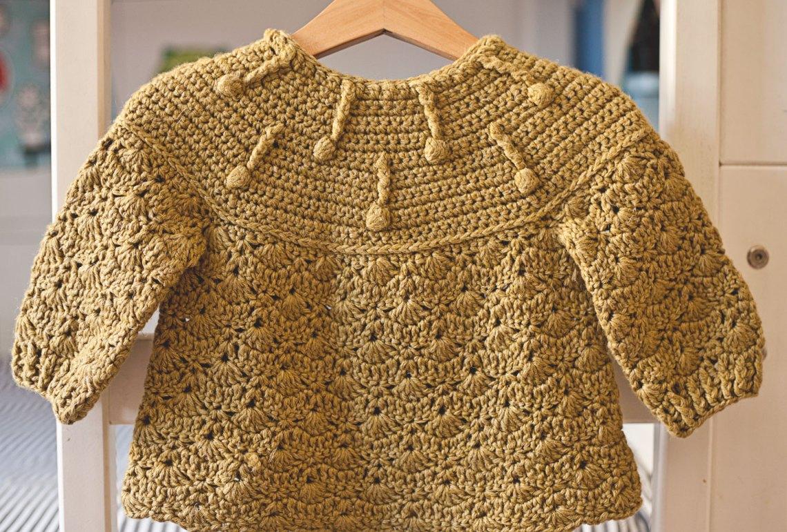 Pistachio Cardiga, crochet pattern by Mon Petit Violon, www.monpetitviolon.com