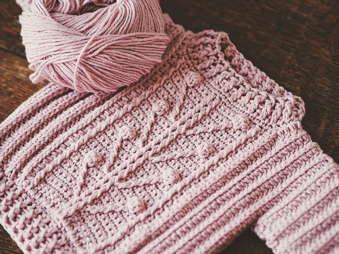 Take your crochet skills to a next level with Winter Garden Sweater!