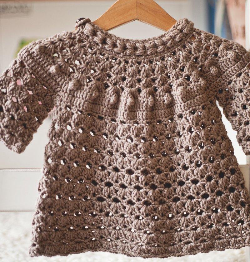 Braid Tunic Dress, crochet pattern by Mon Petit Violon