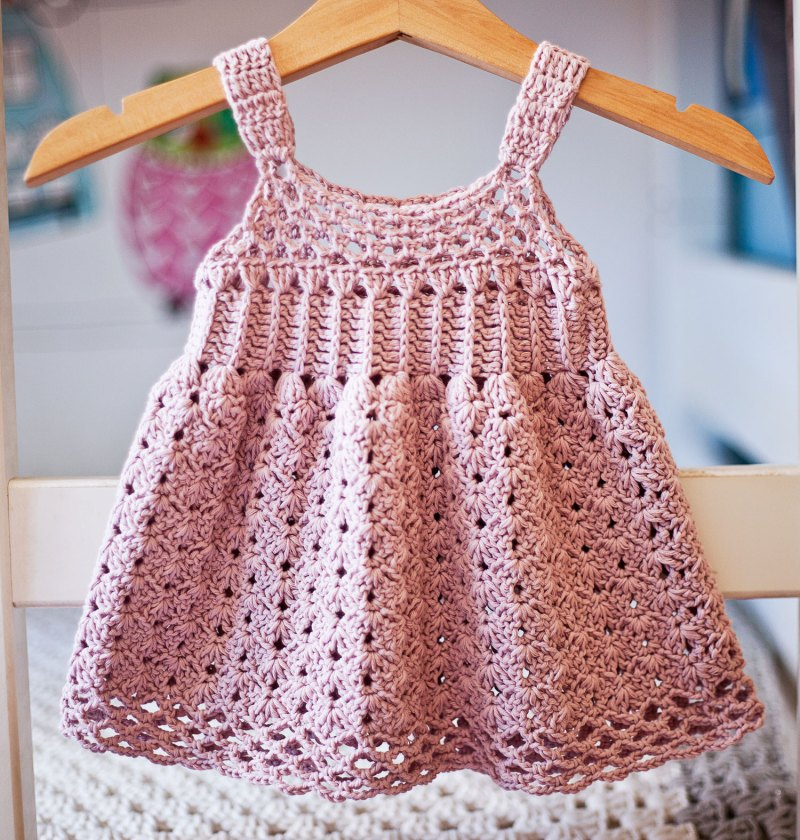 Empire Waist Dress, crochet pattern by Mon Petit Violon