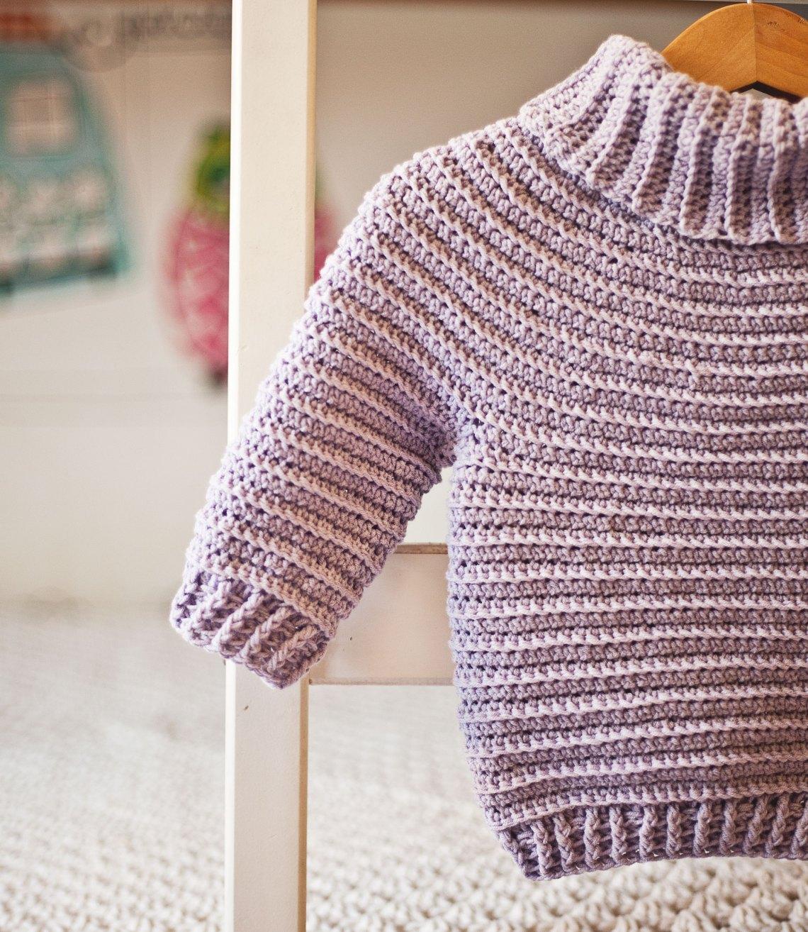 Turtleneck Pullover - crochet pattern by Mon Petit Violon