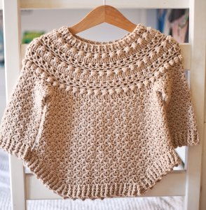 Jasmine Sweater, crochet pattern by Mon Petit Violon