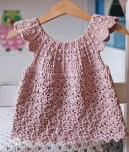Dusty Rose Dress. crochet pattern by Mon Petit Violon
