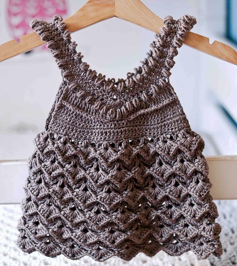 Olivia Dress, crochet pattern by Mon Petit Violon