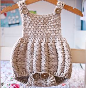 Pleated Romper, crochet pattern by Mon Petit Violon