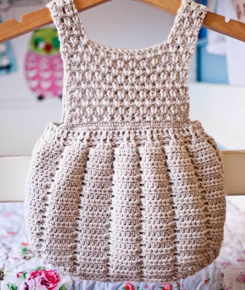 Pleated Romper, crochet pattern by Mon Petit Violon
