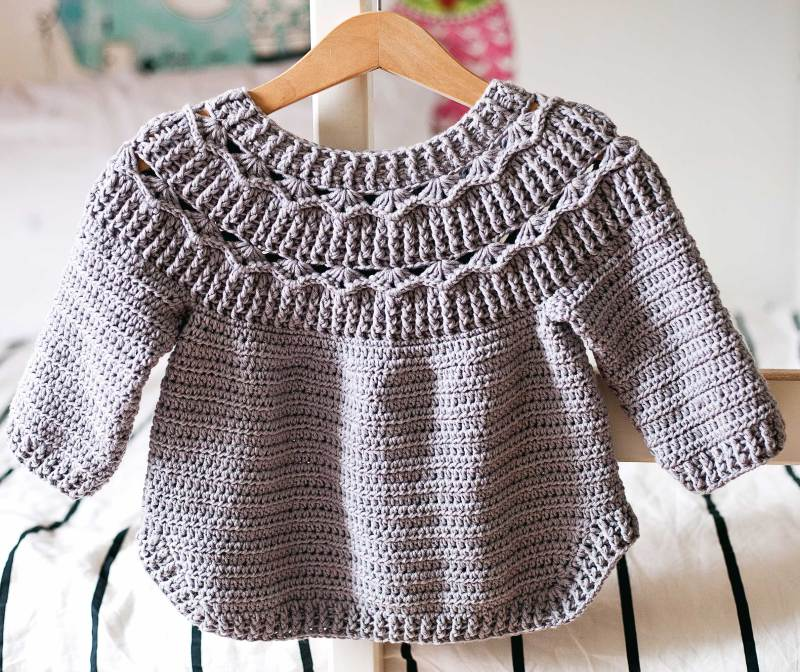 Ester Sweater, crochet pattern by Mon Petit Violon