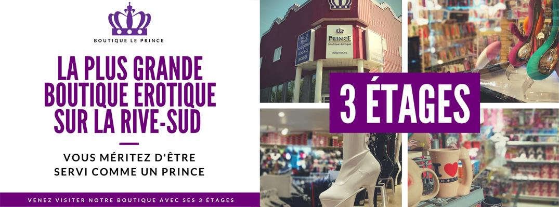 Boutique Sexe Shop | Le Prince Saint-Hubert | 3 étages pour adultes