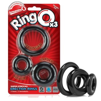 RingO X3 - Ensemble d'Anneaux d'Érection - Screaming O