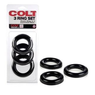 3 Ring Set - Ensemble d'Anneaux d'Érection - Colt