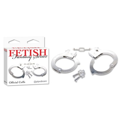 Official Handcuffs - Menottes en Métal - Fetish Fantasy Series