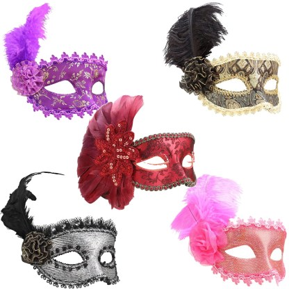Secretly Yours - Masque avec Plumes - Feather Mask