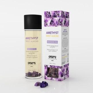 Améthyste et Amande Douce - Huile de massage Bio - Exsens