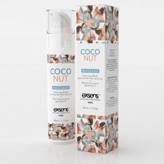 Coconut - Huile de massage Chauffante Gourmande - Exsens - Qc