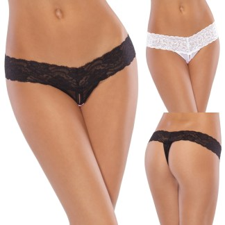 Crotchless Thong - 1381 - Coquette