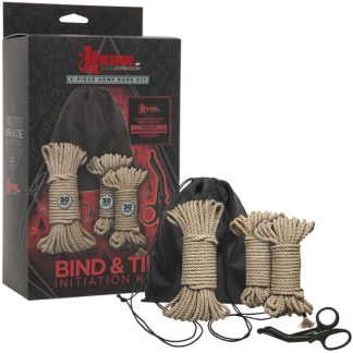 Bind & Tie Initiation Kit - Ensemble de 5 Cordes en Chanvre - Kink.com