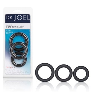 Silicone Support Ring - Dr. Joel Kaplan - Ensemble d'Anneaux d'Érection - California Exotics (3)