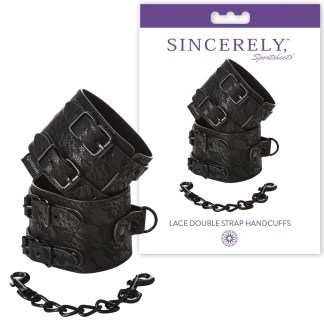 Lace Double Strap Handcuffs - Sincerely - Menottes - Sporsheets