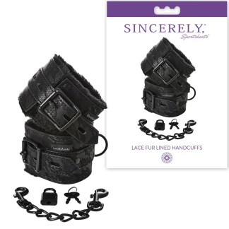 Lace Fur Lined Handcuffs - Sincerely - Menottes - Sporsheets