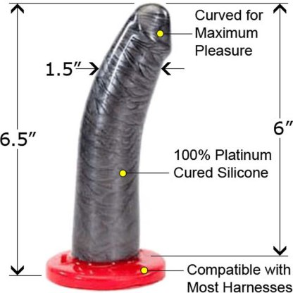 Silicone Strap-On Dong - Gode en Silicone - Huslter