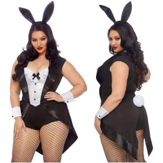 Tuxedo Bunny - 86832X - Grande Taille - Leg Avenue