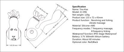 Tina Kiss - Vibrateur Double Stimulation Rechargeable - Yuanse